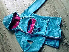 Kabáty - Softshelka na nosenie melirovana - 8777225_