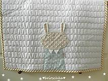 Textil - detská deka so zajkom unisex - 8777141_
