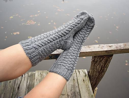 113e79063 šedé, hrubé ponožky pánske s osmičkami (v.42-43) / Eva64 - SAShE.sk ...