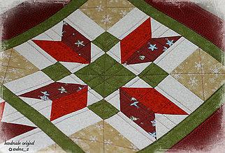 """Úžitkový textil - obrus """"vianočný kvet"""" - 8778736_"""