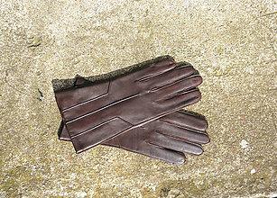 Rukavice - Výprodej - hnědé pánské kožené rukavice, II jakost - 8782074_