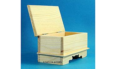 Polotovary - Škatuľka retro malá masív - 8780109_