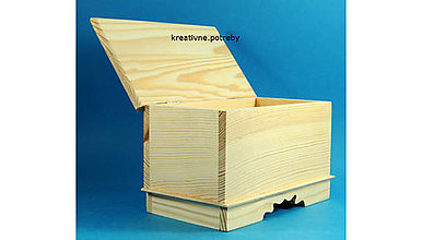 Polotovary - Škatuľka retro veľká masív - 8780244_