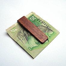 Tašky - Mahagónová spona na peniaze - 8780502_