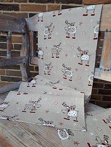 Úžitkový textil - Vianočná štóla Christmas Deers - 8781434_