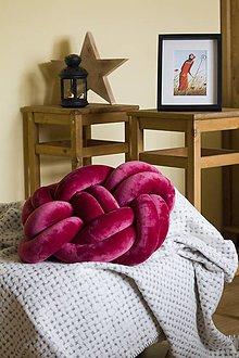 Úžitkový textil - Pletený vankúš - 8780102_