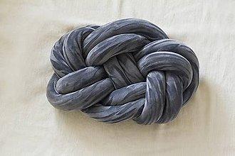 Úžitkový textil - Pletený vankúš - 8780255_