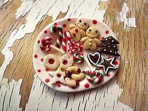 Odznaky/Brošne - vianočné cukrovinky - brošňa (I.) - 8780186_