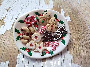 Odznaky/Brošne - vianočné cukrovinky - brošňa II. - 8780282_