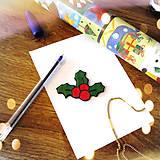 Magnetky - ★ Vianočná magnetka cartoon (imelo) - 8776758_