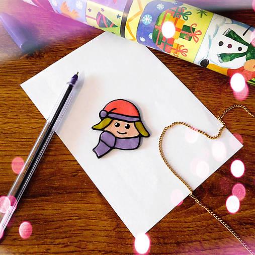 ★ Vianočná magnetka cartoon (dievča)