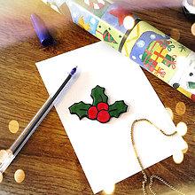 Magnetky - ★ Vianočná magnetka cartoon - imelo - 8776758_