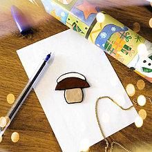 Magnetky - ★ Vianočná magnetka cartoon (zasnežený hríbik) - 8776759_