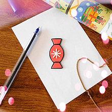 Magnetky - ★ Vianočná magnetka cartoon (pomarančová salónka) - 8777061_