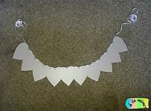 Tabuľky - Girlanda metalická bez textu - 8785037_