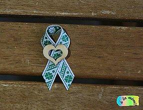Pierka - Svadobné pierko Štvorlístkové s prírodným dreveným srdiečkom s výrezom - 8785139_