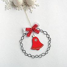 Dekorácie - vianočná dekorácia so zvončekom - 8783848_