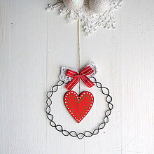 Dekorácie - vianočná dekorácia so srdiečkom - 8784050_