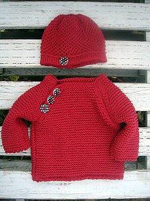 Detské súpravy - Detský svetrík a čiapka - 8784574_