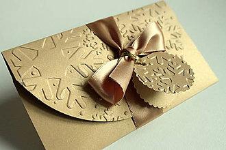 Papiernictvo - Vianočná obálka na peniaze/poukazy (cca 8,5x14cm) - 8785143_