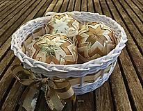 - zlatisté vianočné gule - 6 kusov - 8785297_