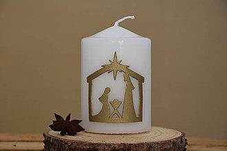 Svietidlá a sviečky - Betlehemská sviečka biela - 8782885_