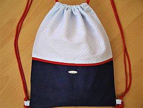 Batohy - Vak -modrá, bodkovaná, červená - 8782271_