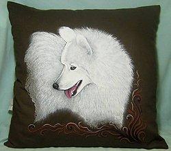 """Úžitkový textil - Maľovaný dekoračný vankúš """"Iza"""" - 8787199_"""