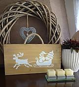 - Vianočná drevená tabuľka - 8783463_