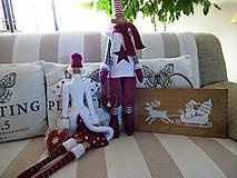 Dekorácie - Vianočná drevená tabuľka - 8783465_