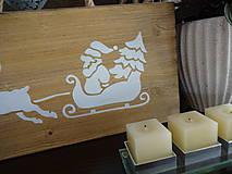 Dekorácie - Vianočná drevená tabuľka - 8783466_