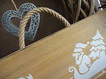 Dekorácie - Vianočná drevená tabuľka - 8783467_
