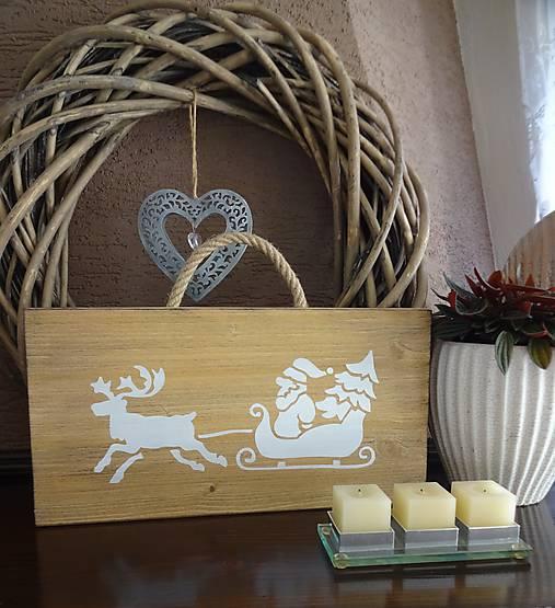 Vianočná drevená tabuľka