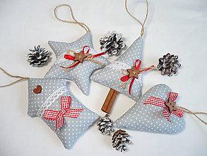 Dekorácie - Vianočné ozdoby do šeda - 8782573_