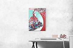 Obrazy - Obraz folkovo - abstraktná deva - 8782364_