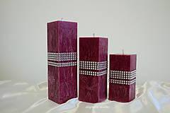 Svietidlá a sviečky - Trio hranol - 8784879_