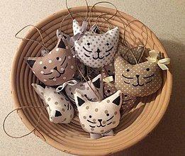 Dekorácie - Vianočné ozdoby - mačičky - 8786114_