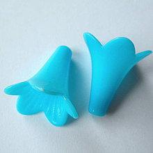 Korálky - Zvonček plast 24x21mm-1ks (modrá) - 8783569_
