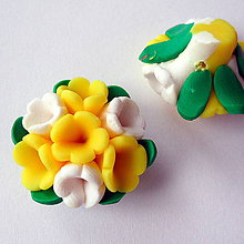 Korálky - FIMO kvet 25mm - 8783916_