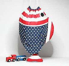 Detské tašky - VRECÚŠKO na hračky, (červeno - modré) - 8787691_
