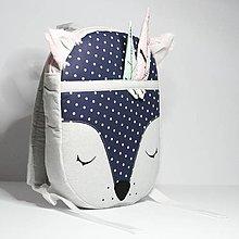 Detské tašky - RUKSAK baby LÍŠKA sivo -modrý dievčenský 2,5r. - 8787744_