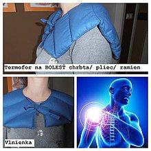 Úžitkový textil - Ohrievací GOLIER  na BOLESŤ Šije/ Ramená/ Plecia /CHRBTICA/ zamrznuté rameno/ bolestivé PLECE/ svalstvo/ kĺby - 8784523_
