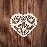 Dekorácie - Drevená ozdoba 3 - 8784096_