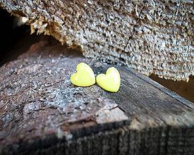 Náušnice - Srdiečka 9 mm - 8782595_
