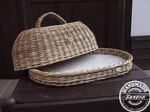 Nádoby - Oválny chlebník 40x30x20 - 8786248_