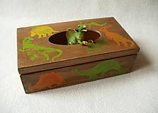 Krabičky - Zásobník na vreckovky Dino - 8785462_