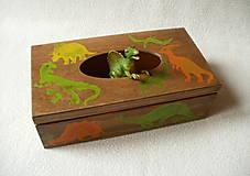 Krabičky - Zásobník na vreckovky Dino - 8785466_