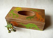 Krabičky - Zásobník na vreckovky Dino - 8785471_
