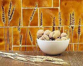 Dekorácie - Keramická mozaika s pšenicou - 8784101_