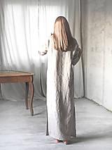 Pyžamy a župany - Dámska ľanová nočná košeľa (M/L) - 8783025_